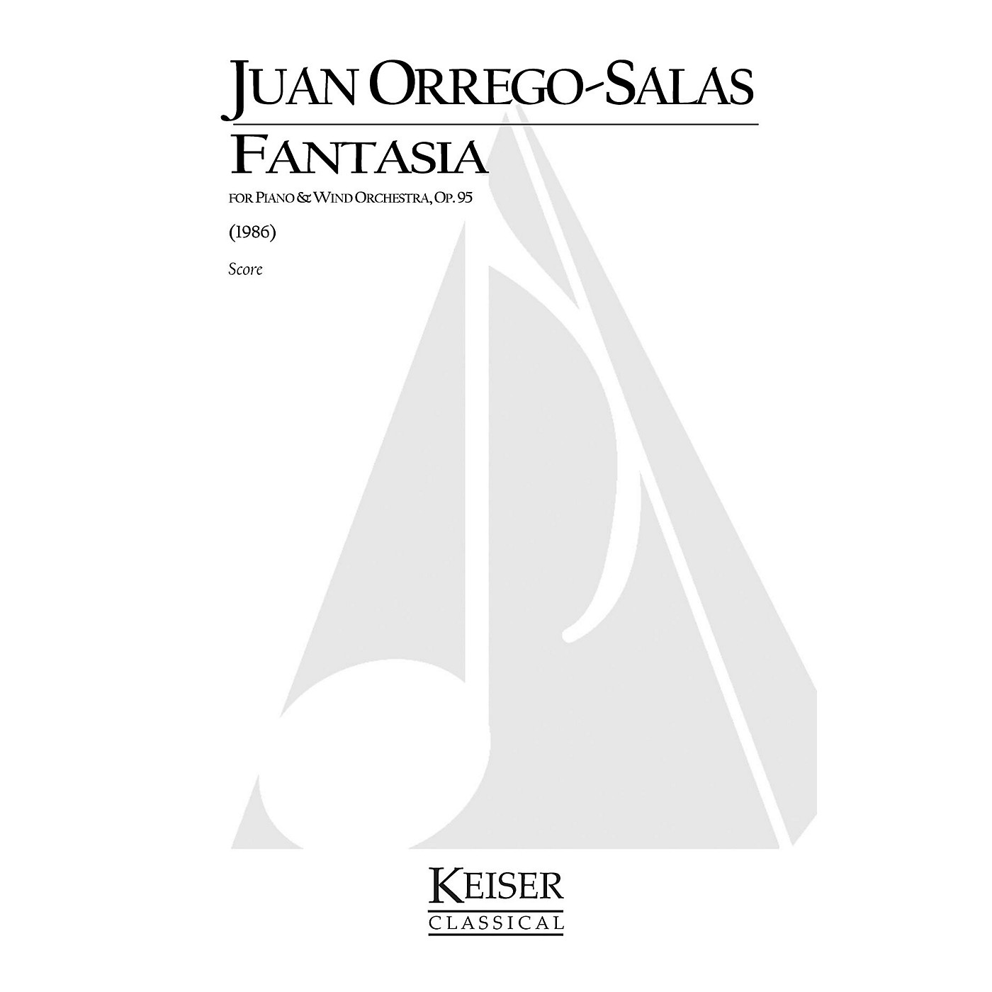 Lauren Keiser Music Publishing Fantasia for Piano and Wind Orchestra, Op. 95 LKM Music Series Composed by Juan Orrego-Salas thumbnail