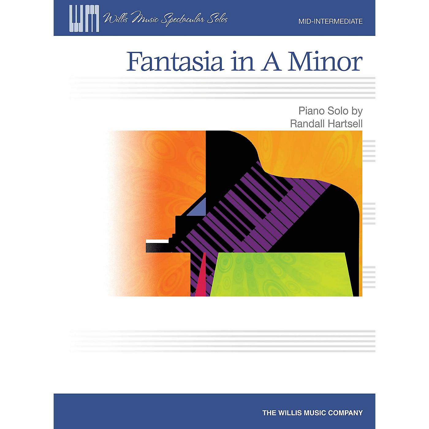 Willis Music Fantasia in A Minor Willis Series by Randall Hartsell (Level Mid-Inter) thumbnail