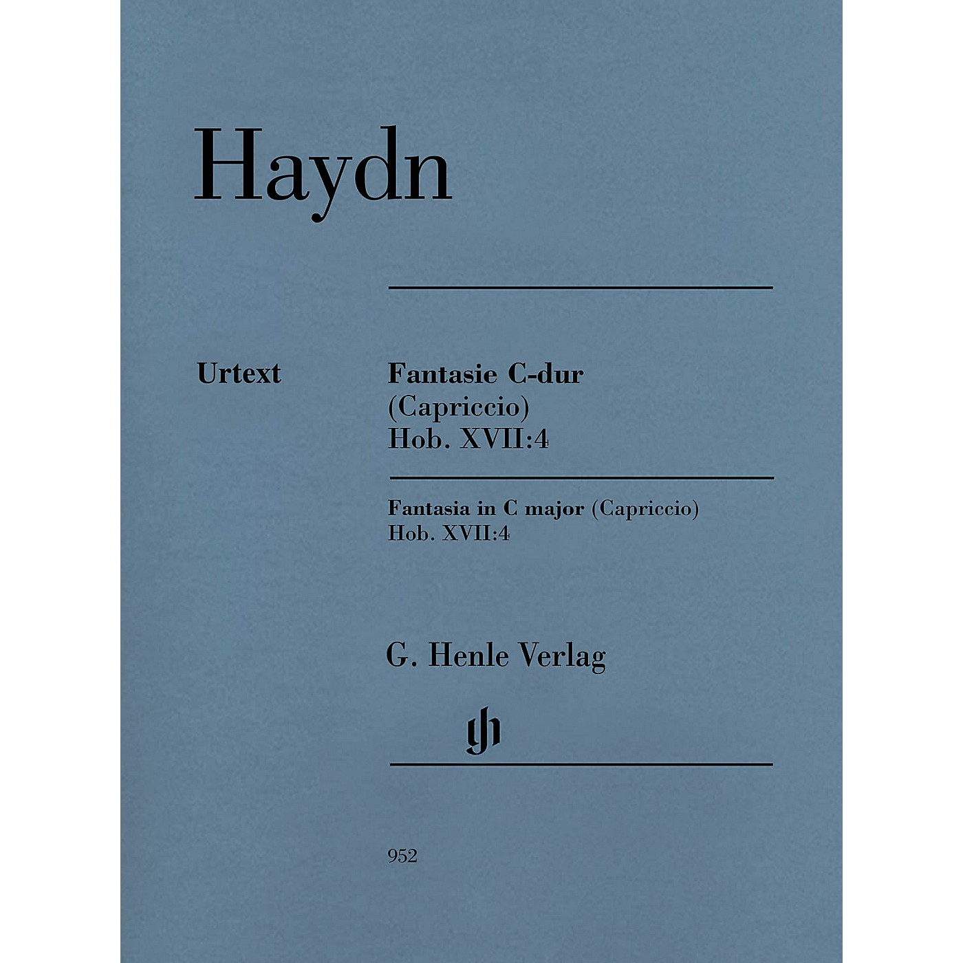 G. Henle Verlag Fantasia in C Major (Capriccio) Hob. XVII:4 Henle Music Softcover by Haydn Edited by Sonja Gerlach thumbnail