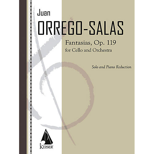 Lauren Keiser Music Publishing Fantasias, Op. 119 (Cello with Piano) LKM Music Series Composed by Juan Orrego-Salas thumbnail