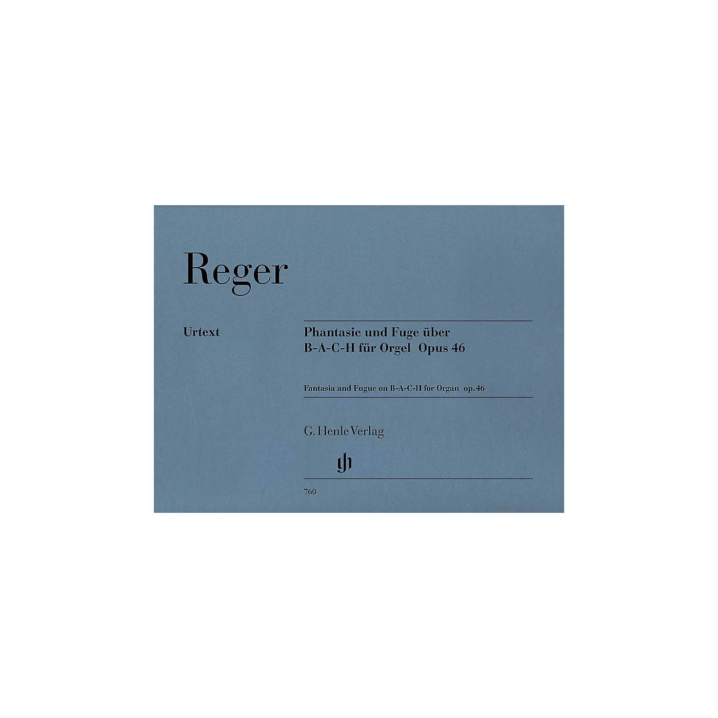 G. Henle Verlag Fantasie and Fugue on B-A-C-H Op. 46 Henle Music Folios Series Softcover thumbnail