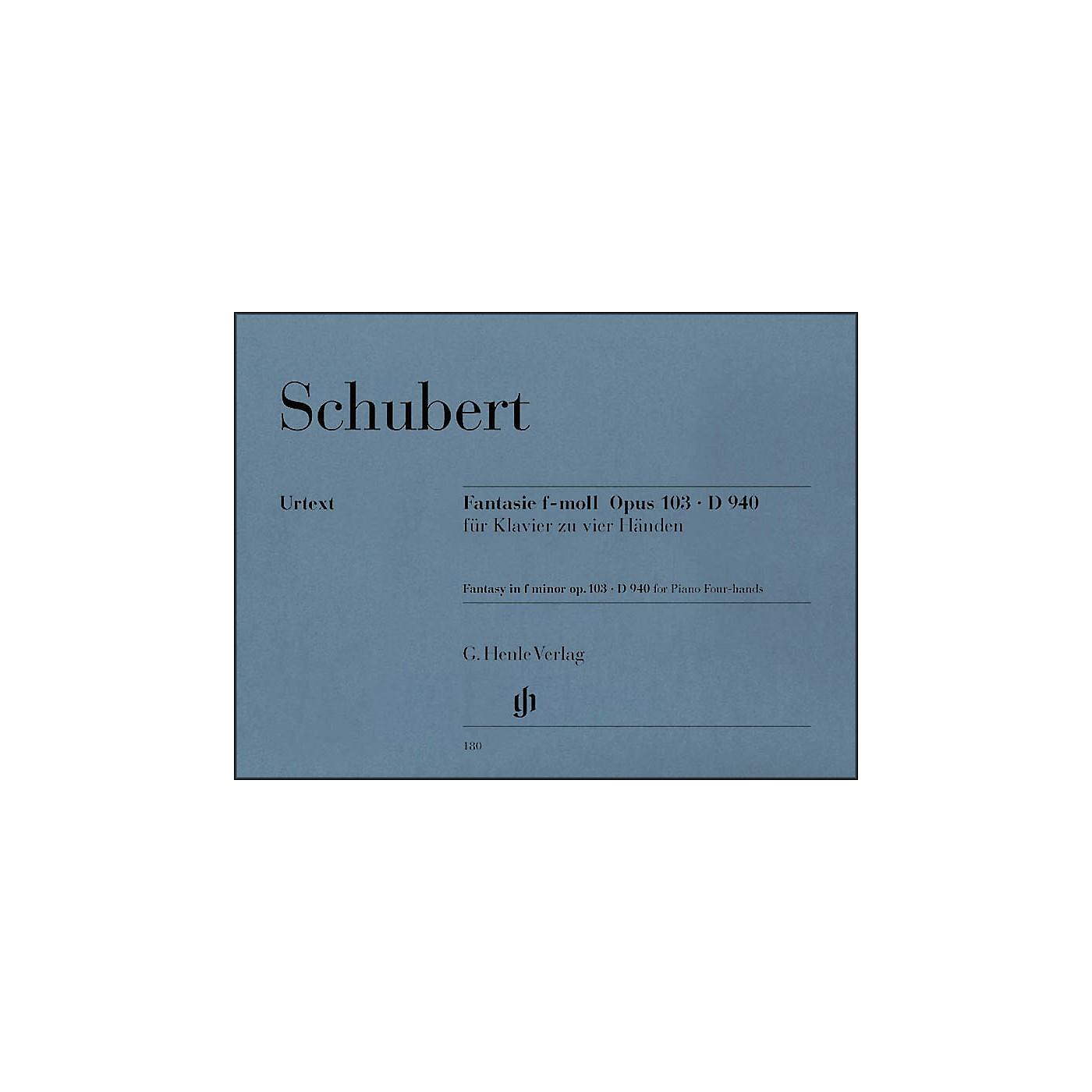 G. Henle Verlag Fantasy F Minor Op. 103 D940 for 1 Piano, 4 Hands By Schubert thumbnail