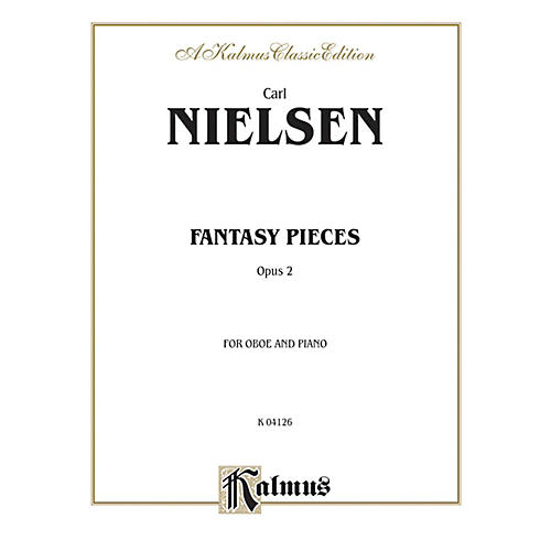 Alfred Fantasy Pieces Op. 2 for Oboe By Carl Nielsen Book thumbnail
