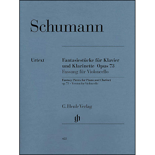 G. Henle Verlag Fantasy Pieces for Piano And Clarinet Opus 73 (Version for Violoncello) By Schumann thumbnail