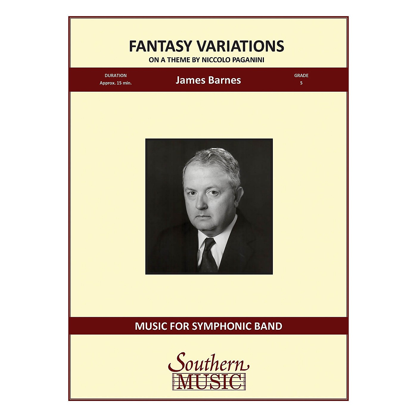 Southern Fantasy Variations on a Theme of Paganini Concert Band Level 5 Composed by James Barnes thumbnail