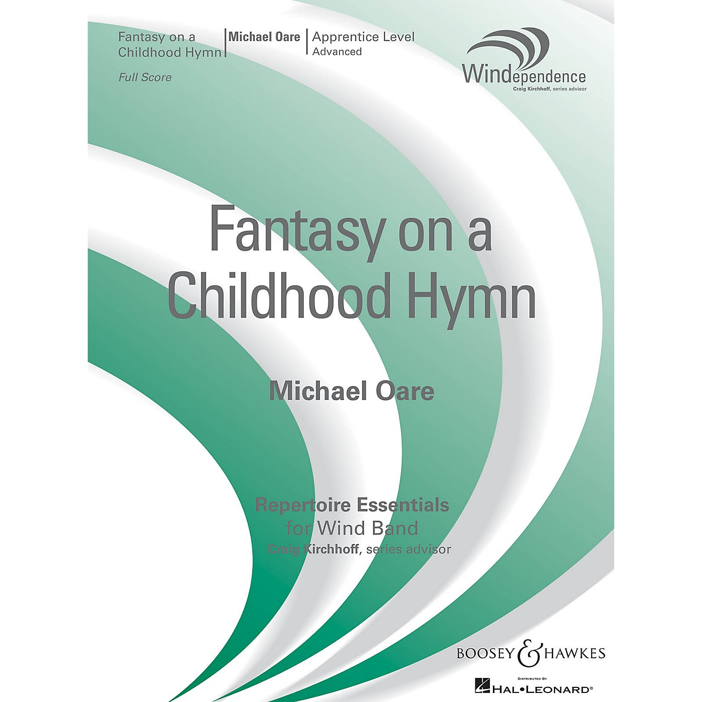 Boosey and Hawkes Fantasy on a Childhood Hymn (Score Only) Concert Band Level 3 Composed by Michael Oare thumbnail