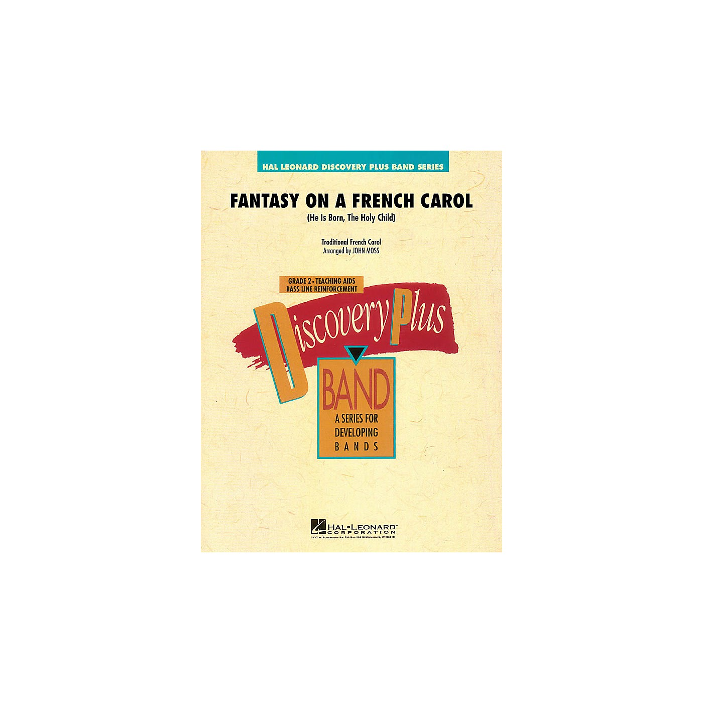 Hal Leonard Fantasy on a French Carol - Discovery Plus Band Level 2 arranged by John Moss thumbnail