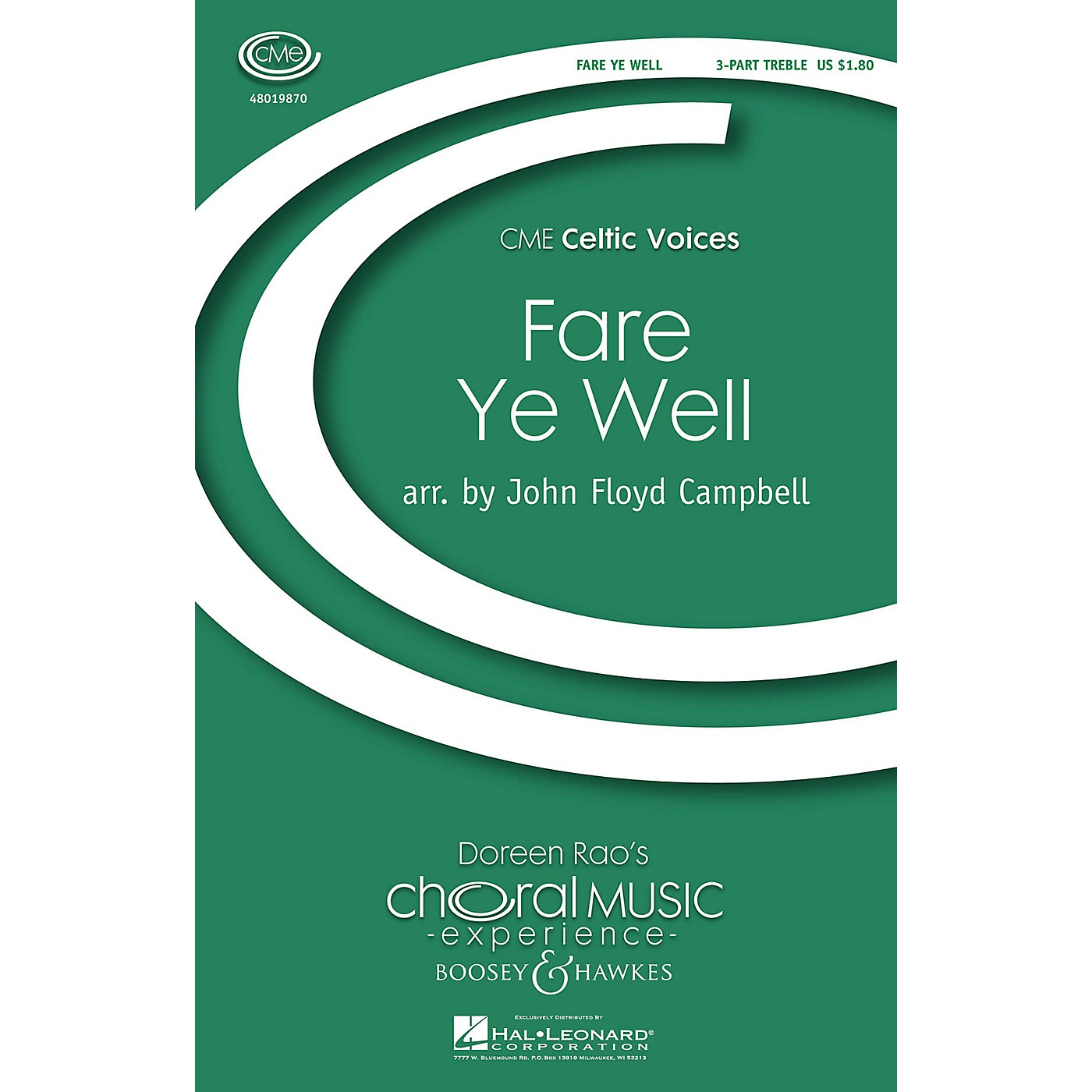 Boosey and Hawkes Fare Ye Weel (CME Celtic Voices) 3 Part Treble arranged by John Floyd Campbell thumbnail