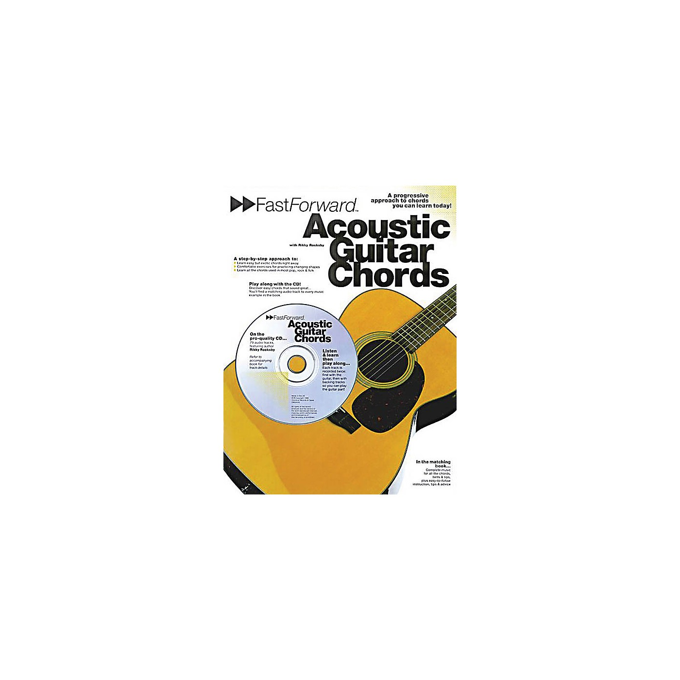 Music Sales Fast Forward - Acoustic Guitar Chords Music Sales America Series Softcover with CD by Rikky Rooksby thumbnail