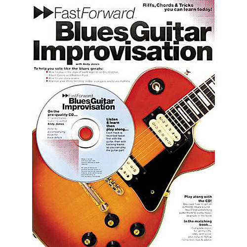 Music Sales Fast Forward - Blues Guitar Improvisation Music Sales America Series Softcover with CD by Andy Jones thumbnail