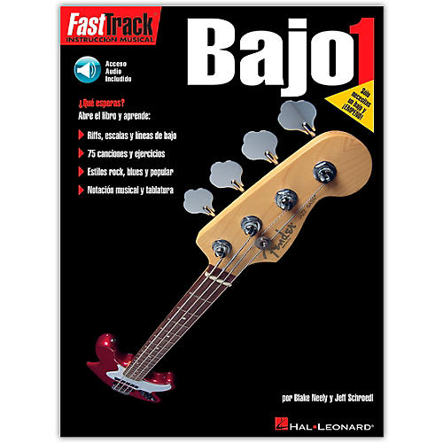 Hal Leonard Fast Track Method Bajo 1 - Spanish Edition (Book/Online Audio) thumbnail