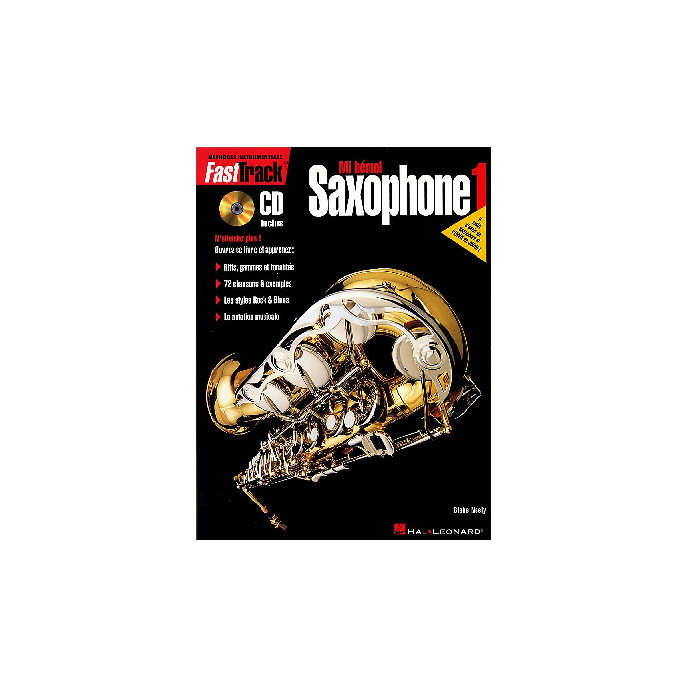 Hal Leonard FastTrack Alto Saxophone Method - Book 1 - French Edition Fast Track Music Instruction Series thumbnail