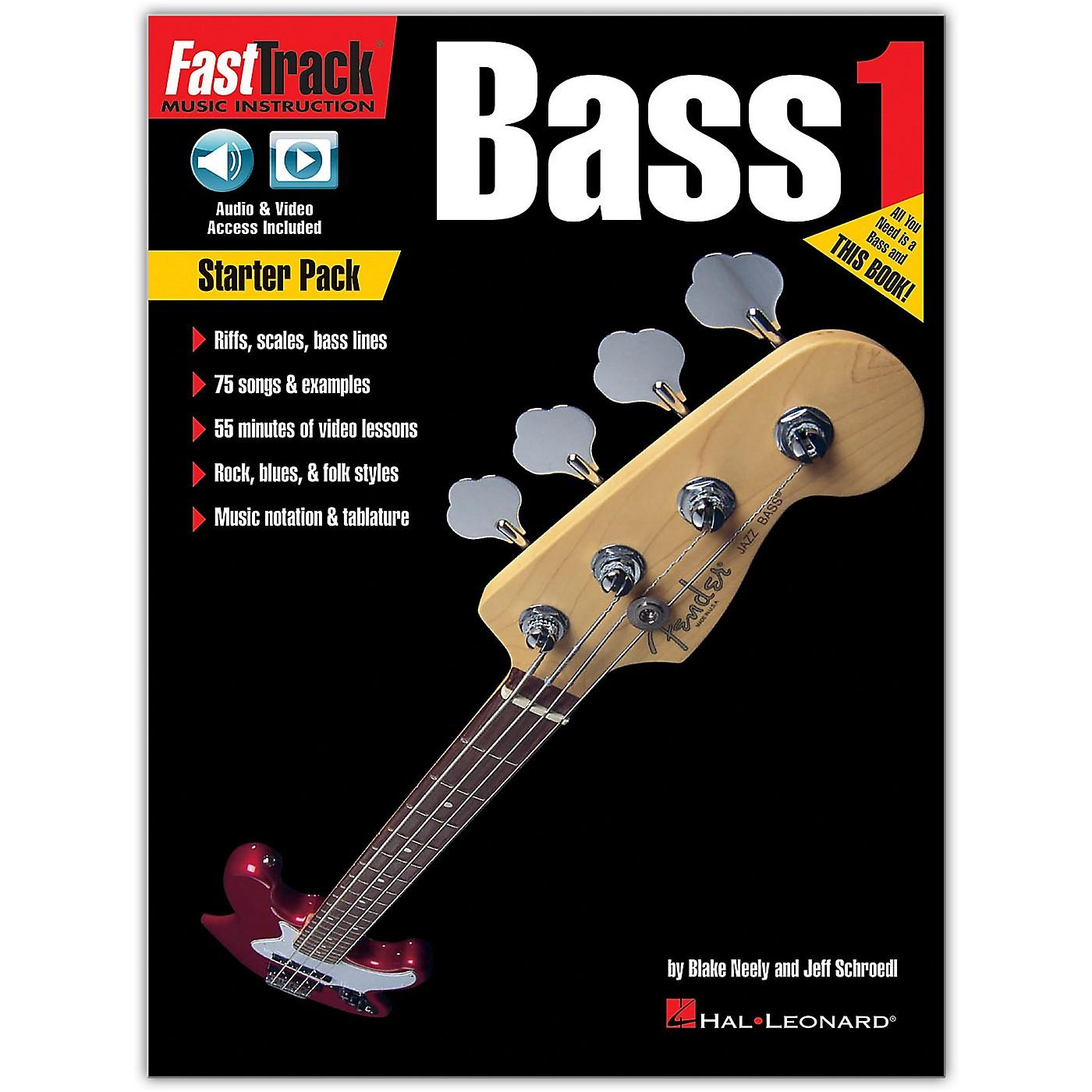 Hal Leonard FastTrack Bass Method - Starter Pack Book/Online Audio and Video thumbnail