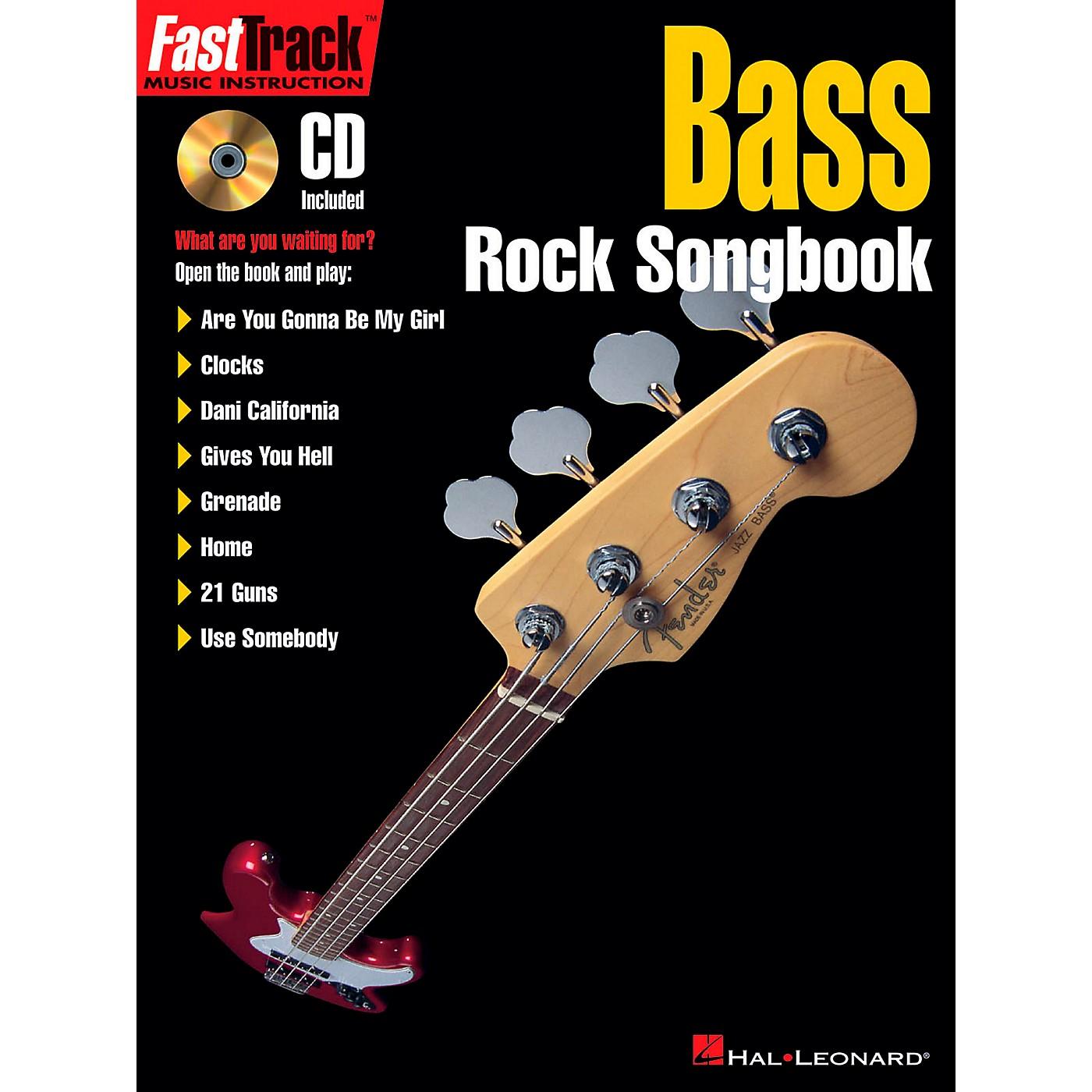 Hal Leonard FastTrack Bass Rock Songbook Book/CD thumbnail