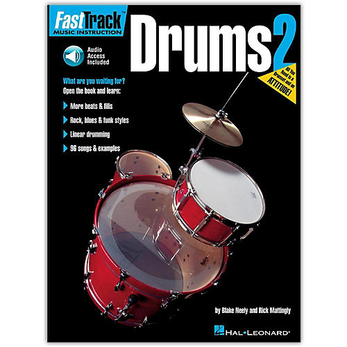 Hal Leonard FastTrack Drum Method - Book 2 with Online Audio thumbnail