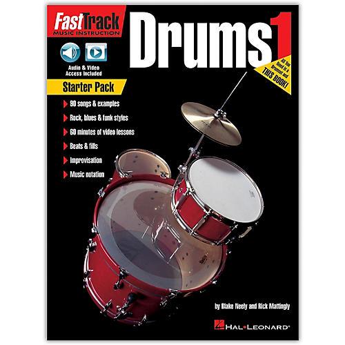 Hal Leonard FastTrack Drum Method - Starter Pack Book/Online Audio and Video thumbnail