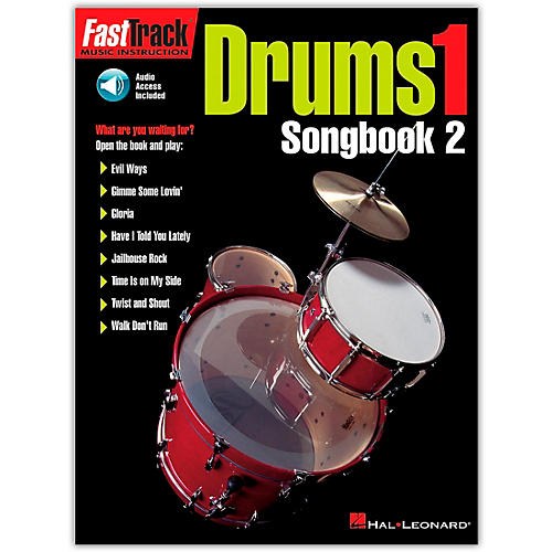 Hal Leonard FastTrack Drum Songbook 2 - Level 1 (Book/Online Audio) thumbnail