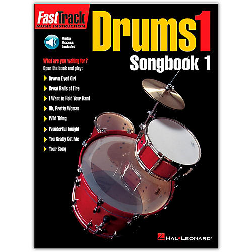 Hal Leonard FastTrack Drums1 Songbook 1 (Book/Online Audio) thumbnail