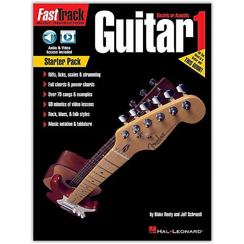 Hal Leonard FastTrack Guitar Method - Starter Pack Book/Online Audio and Video thumbnail