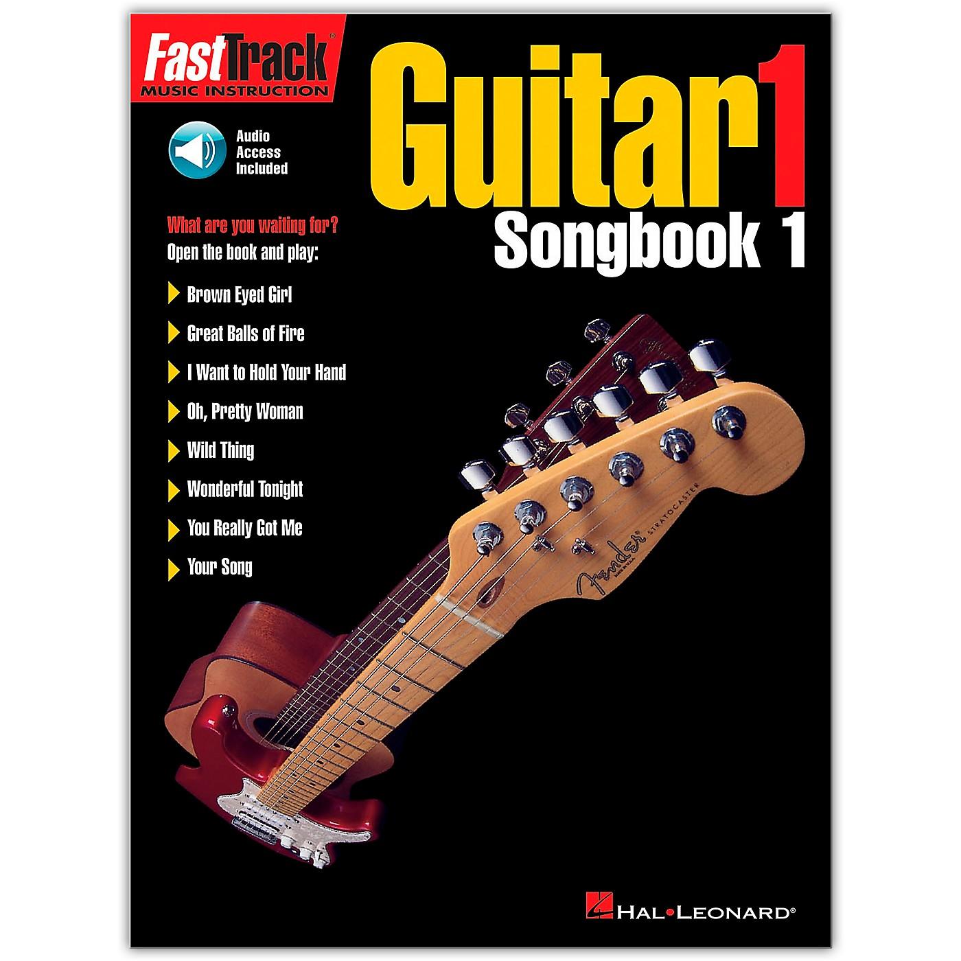Hal Leonard FastTrack Guitar Songbook 1 Level 1 (Book/Online Audio) thumbnail