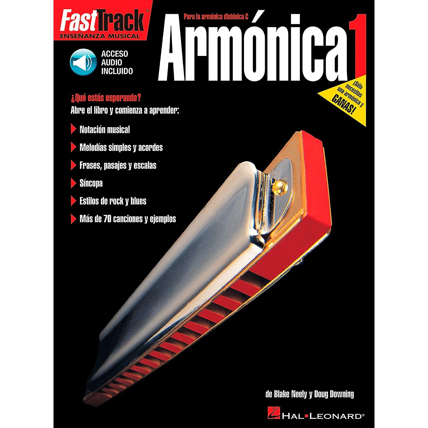 Hal Leonard FastTrack Harmonica Method Book 1 Book/CD - Spanish Edition thumbnail