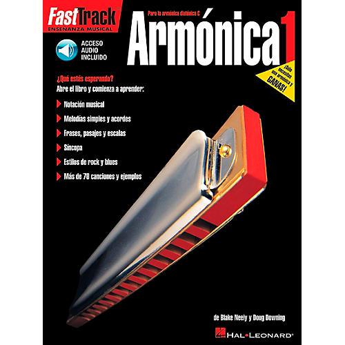 Hal Leonard FastTrack Harmonica Method Book 1 Book/CD - Spanish Edition-thumbnail
