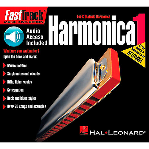 Hal Leonard FastTrack Mini Harmonica Book 1 Book/CD thumbnail