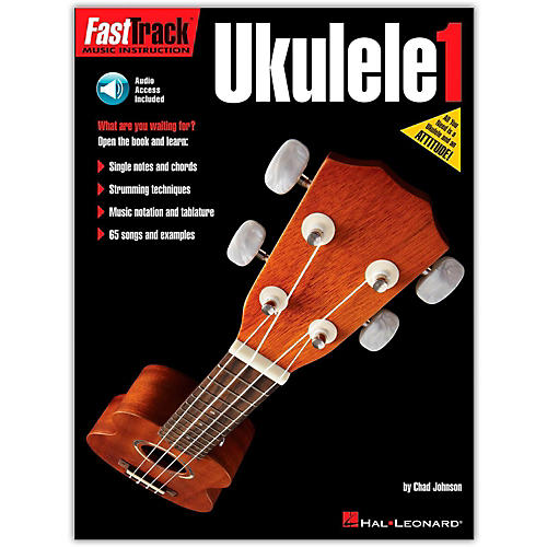 Hal Leonard FastTrack Ukulele Method Book 1 (Book/Online Audio) thumbnail