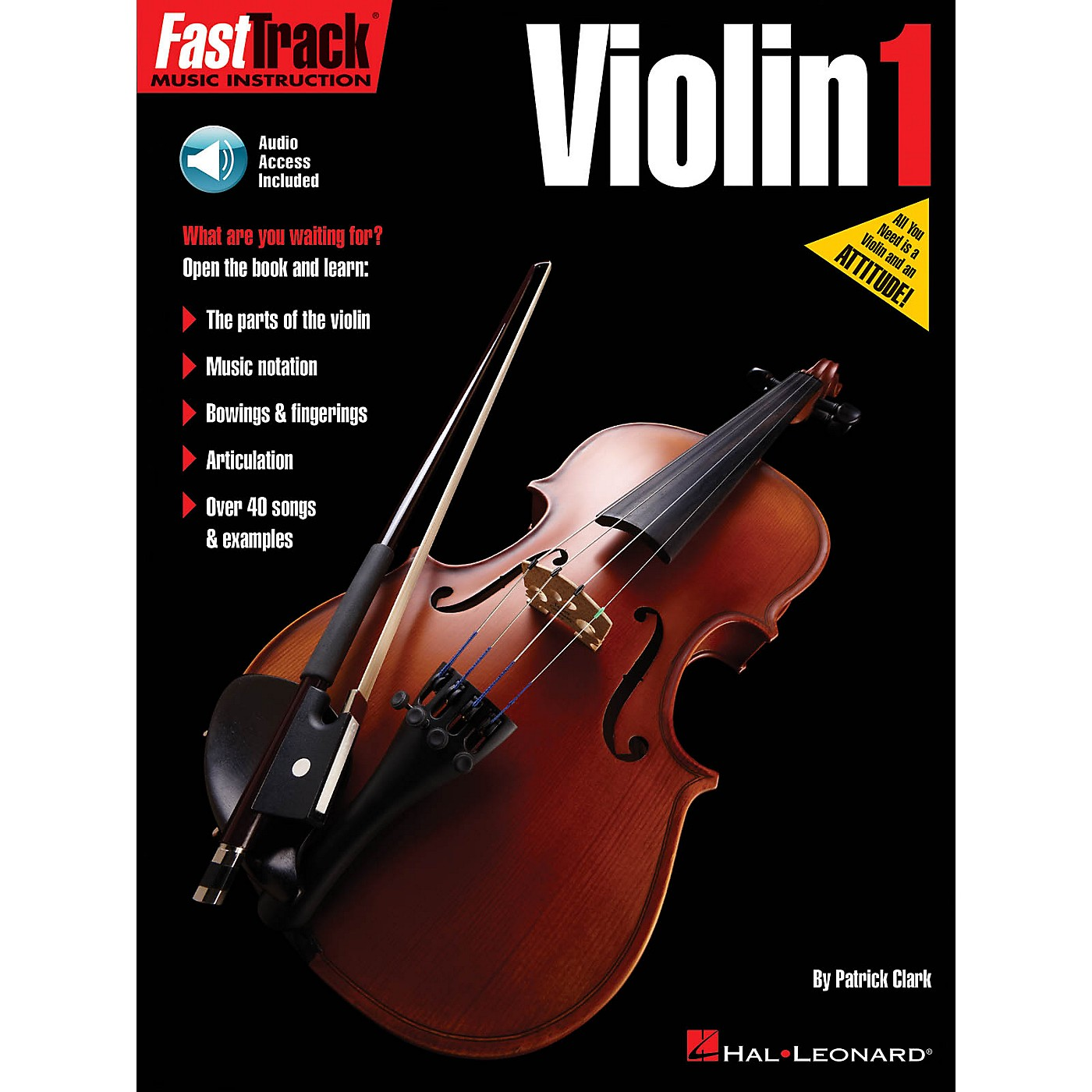 Hal Leonard FastTrack Violin Method Book 1 Fast Track Music Instruction Softcover Audio Online by Patrick Clark thumbnail