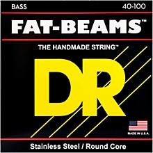 DR Strings Fat-Beams Stainless Steel Lite 4-String Bass Strings (40-100)