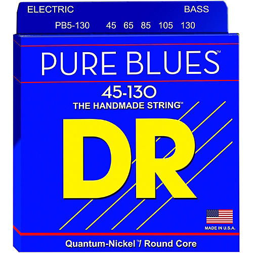 DR Strings Fat-Beams Stainless Steel Medium 5-String Bass Strings (45-130) thumbnail