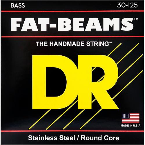 DR Strings Fat-Beams Stainless Steel Medium 6-String Bass Strings (30-125) thumbnail