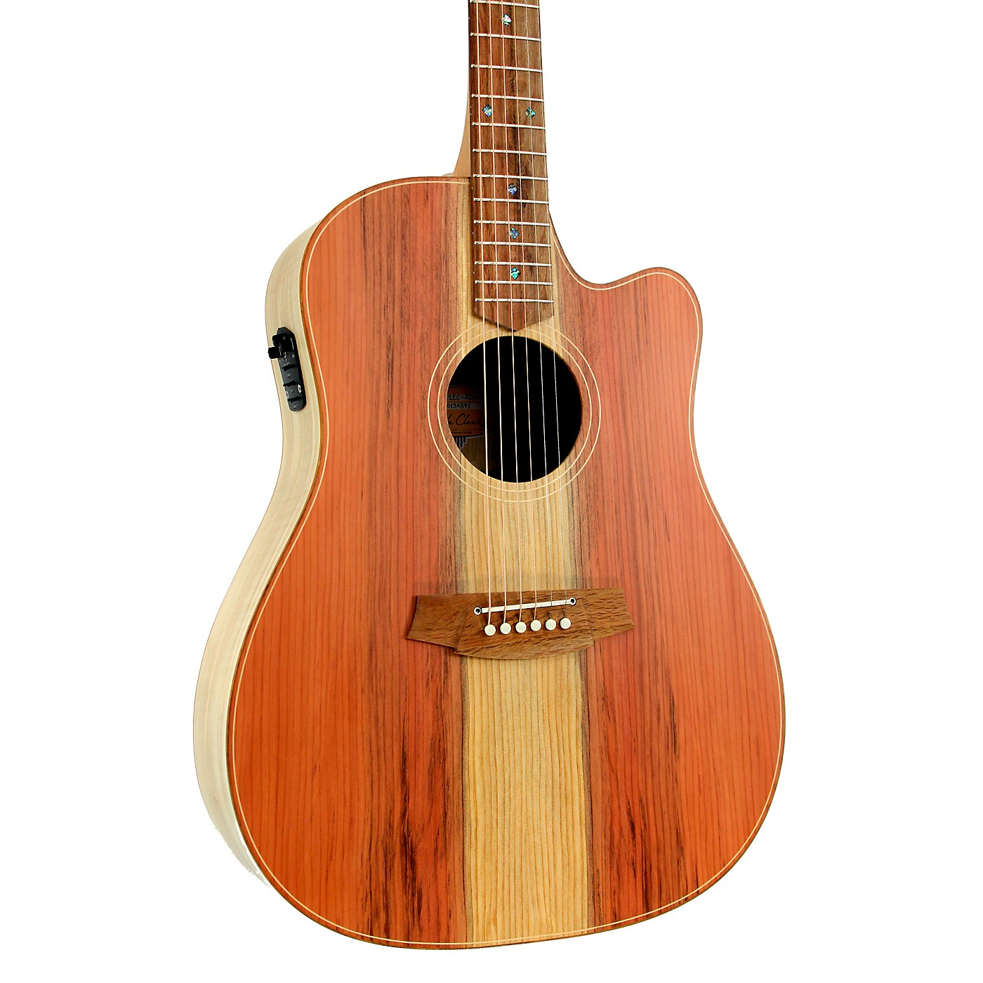 Cole Clark Fat Lady 2 Series CCFL2EC-RDEM Dreadnought Acoustic-Electric Guitar thumbnail