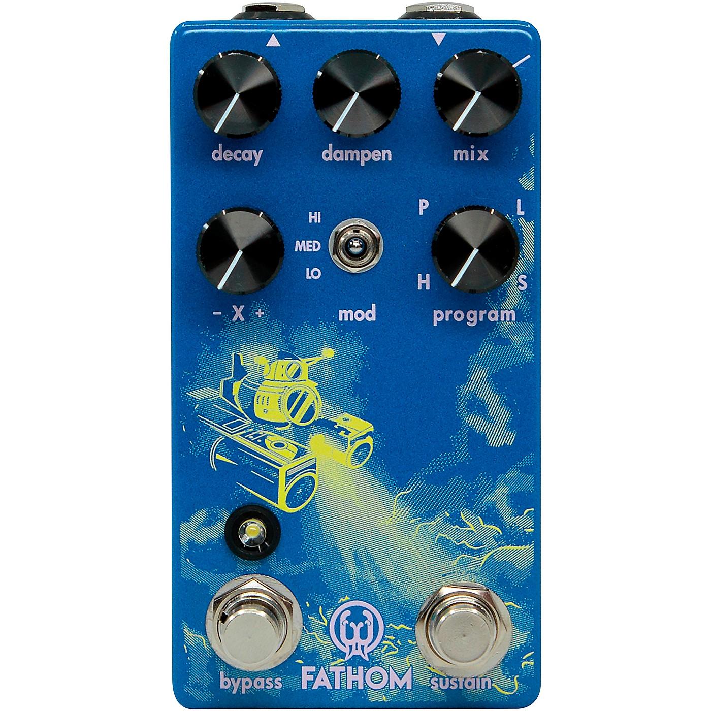 Walrus Audio Fathom Multi-Function Neon Reverb Effects Pedal thumbnail