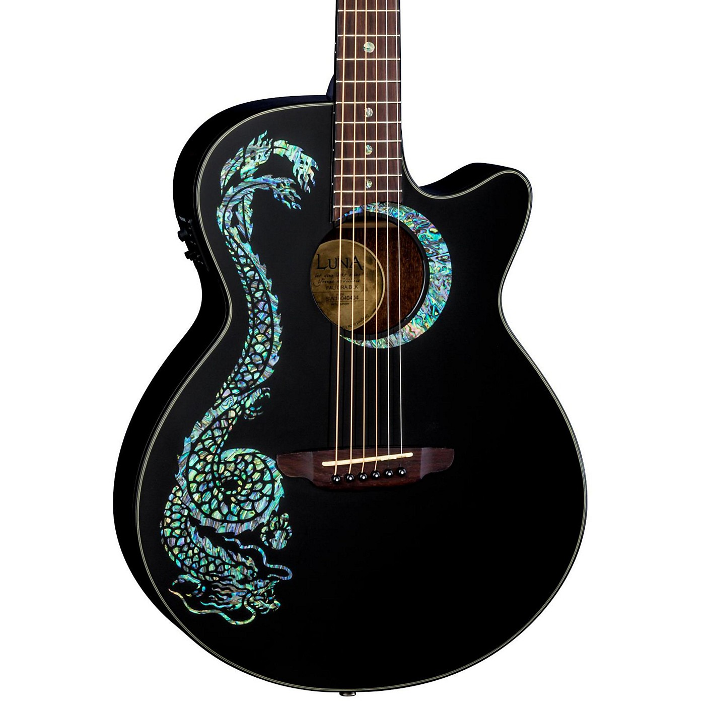 Luna Guitars Fauna Dragon Acoustic-Electric Guitar thumbnail