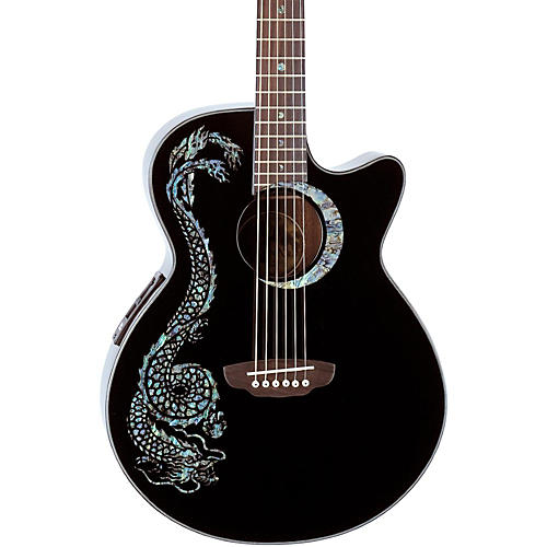 Luna Guitars Fauna Dragon Folk Acoustic-Electric Guitar thumbnail