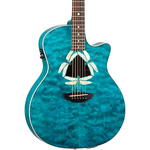 Luna Guitars Fauna Dragonfly Acoustic-Electric Guitar Quilted Maple Top-thumbnail