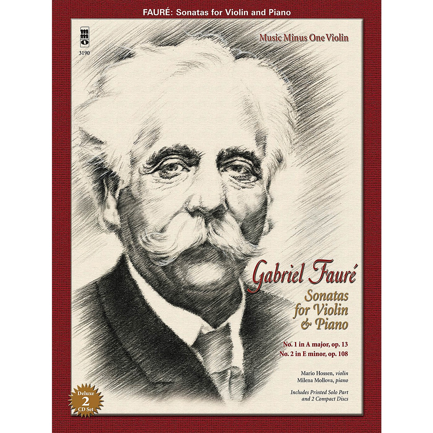 Music Minus One Faure: Sonatas for Violin and Piano Music Minus One Series Softcover with CD Performed by Mario Hossen thumbnail