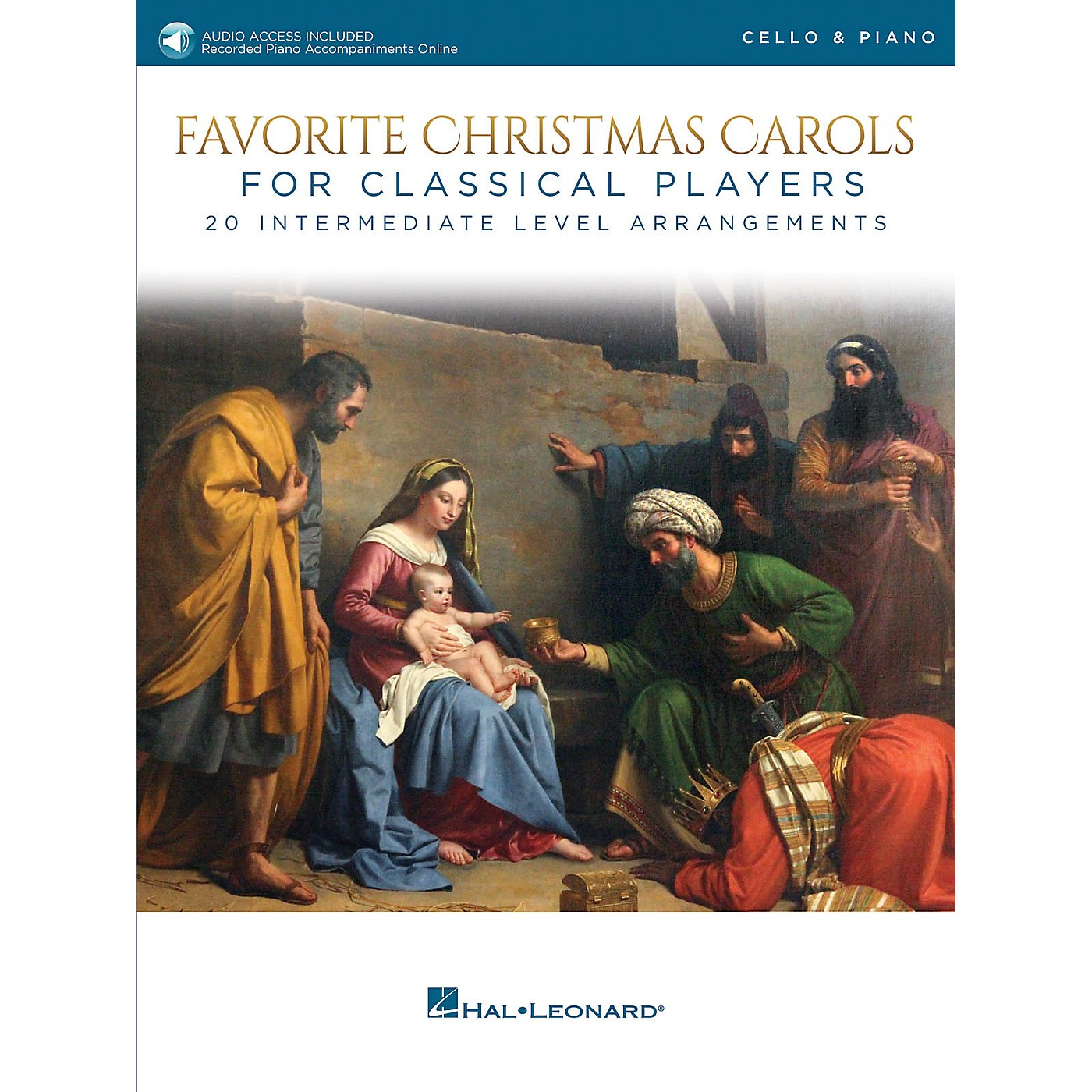 Hal Leonard Favorite Christmas Carols for Classical Players - Cello and Piano Book/Audio Online thumbnail