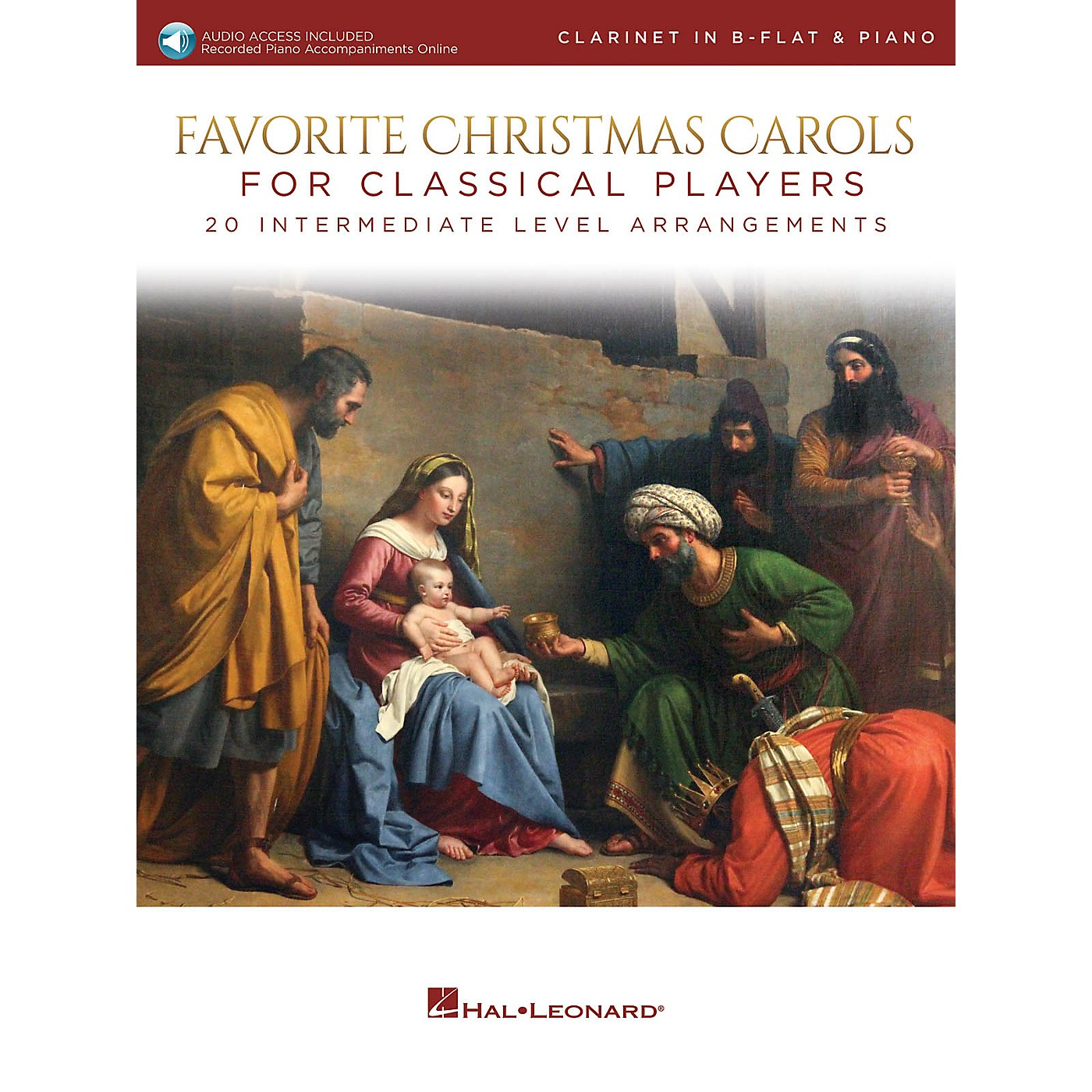 Hal Leonard Favorite Christmas Carols for Classical Players - Clarinet and Piano Book/Audio Online thumbnail