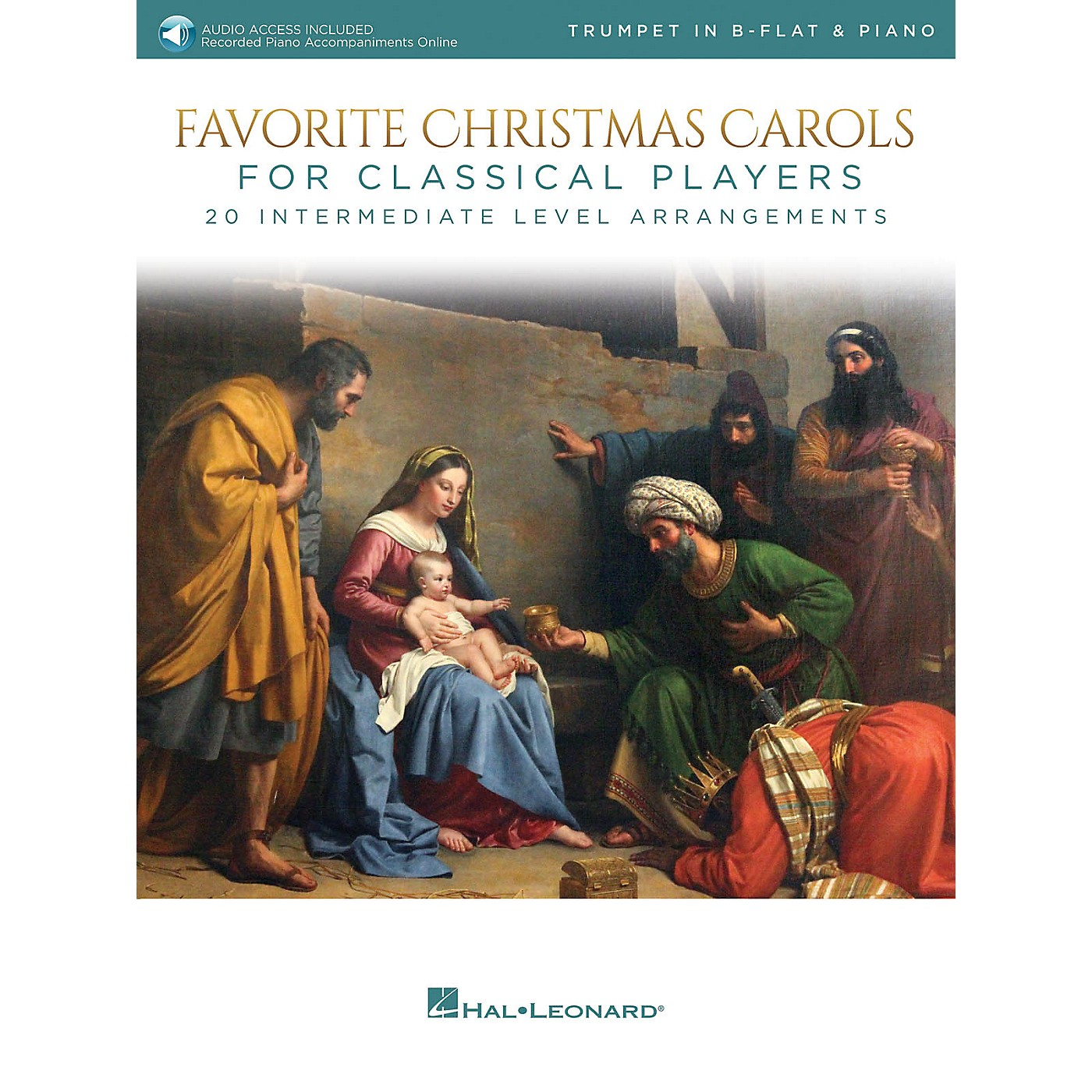 Hal Leonard Favorite Christmas Carols for Classical Players - Trumpet and Piano Book/Audio Online thumbnail