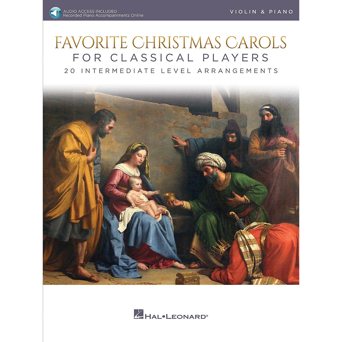 Hal Leonard Favorite Christmas Carols for Classical Players - Violin and Piano Book/Audio Online thumbnail