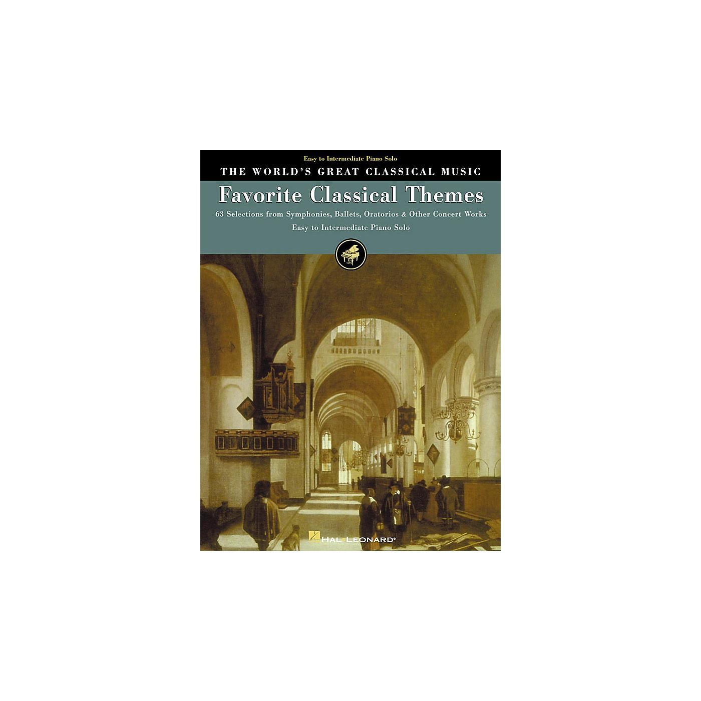 Hal Leonard Favorite Classical Themes World's Greatest Classical Music Series (Intermediate) thumbnail