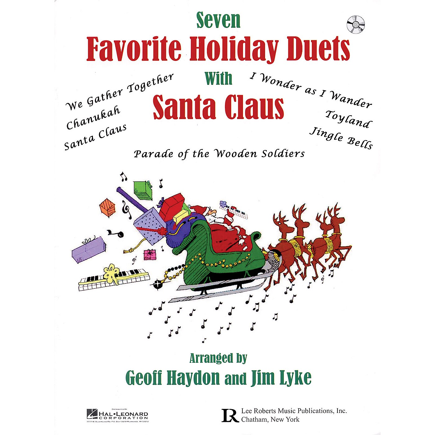 Lee Roberts Favorite Holiday Duets with Santa Claus Pace Piano Education Series Softcover with CD by Geoff Haydon thumbnail