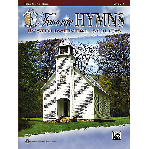 Alfred Favorite Hymns Instrumental Solos Piano Accompaniment. Book & CD-thumbnail