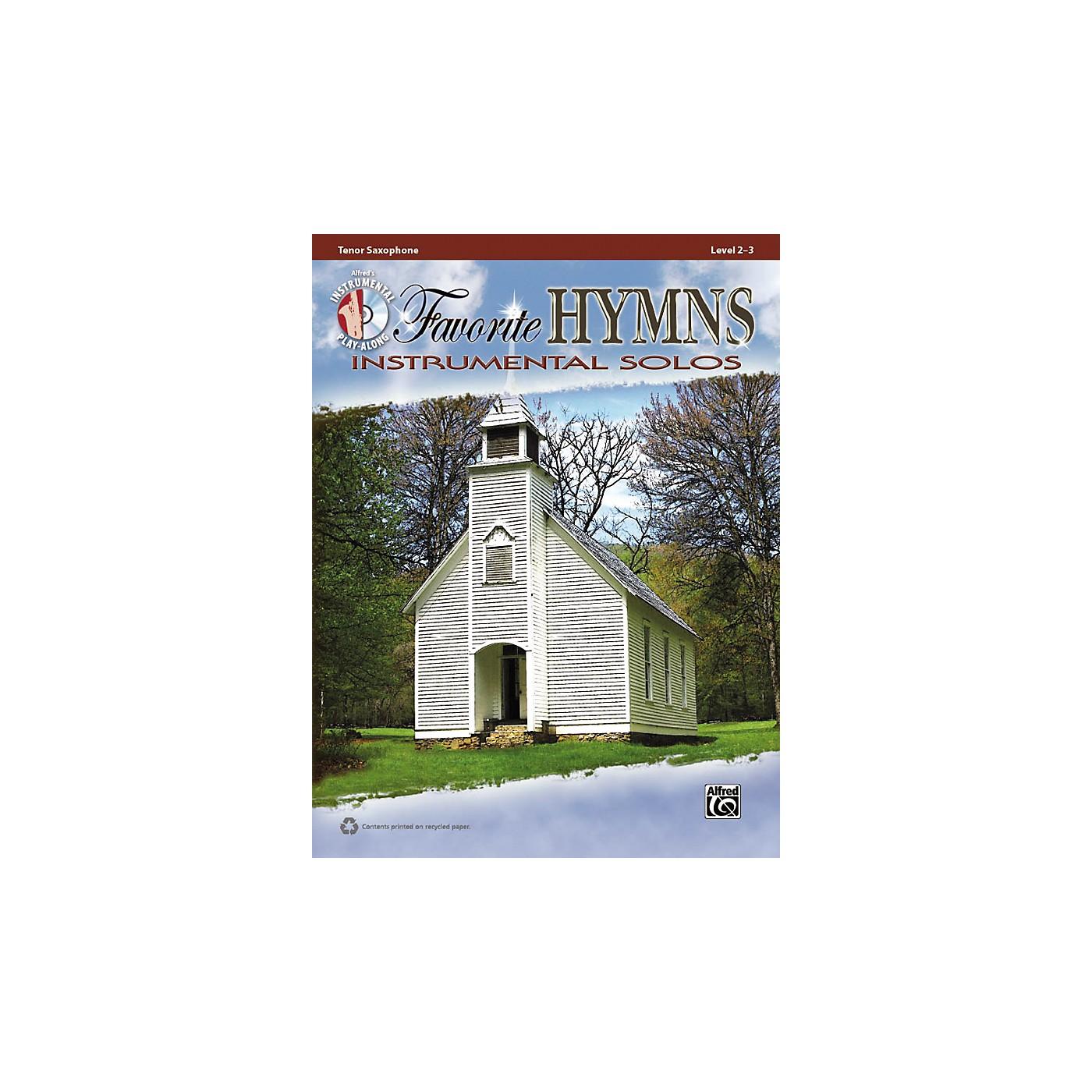 Alfred Favorite Hymns Instrumental Solos Tenor Sax Book & CD thumbnail