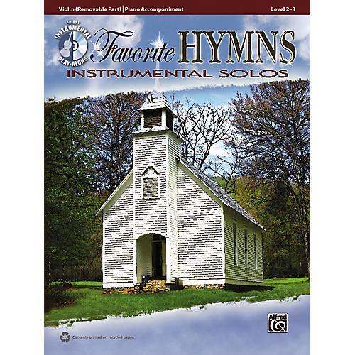 Alfred Favorite Hymns Instrumental Solos Violin Book & CD thumbnail