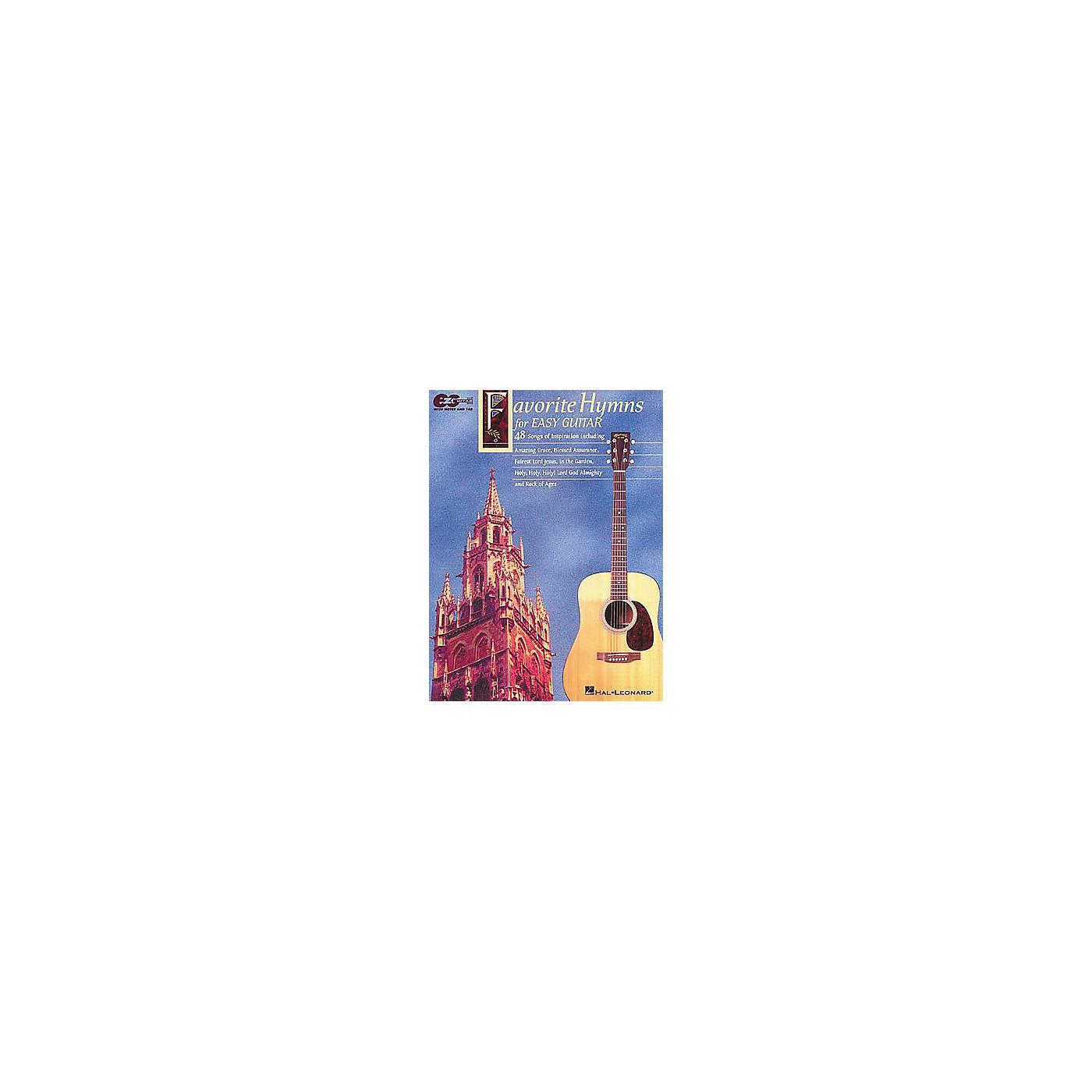 Hal Leonard Favorite Hymns for Easy Guitar Tab Book thumbnail