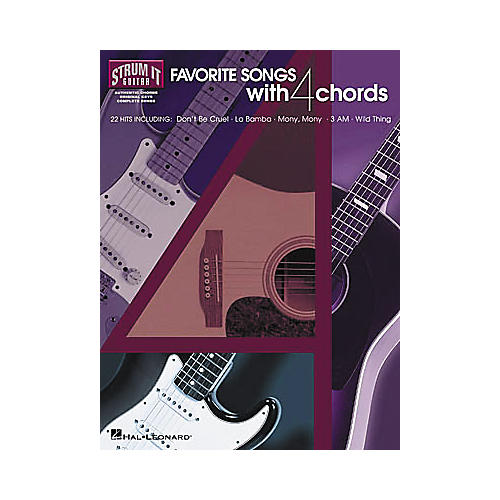 Hal Leonard Favorite Songs with 4 Chords Strum It Guitar Book thumbnail