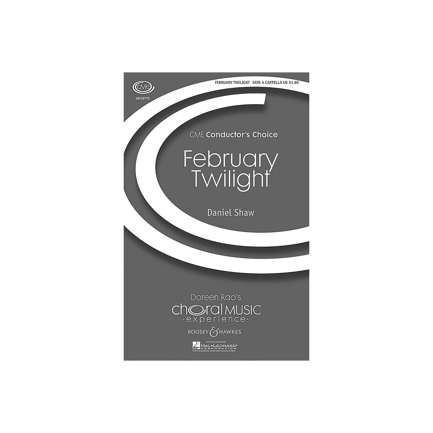 Boosey and Hawkes February Twilight (CME Conductor's Choice) SATB a cappella composed by Daniel Shaw thumbnail